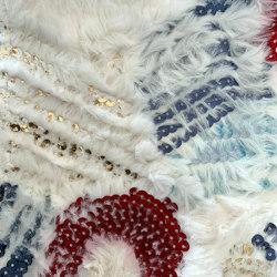 Celerina col. 101 red/steel gray/white | Drapery fabrics | Jakob Schlaepfer