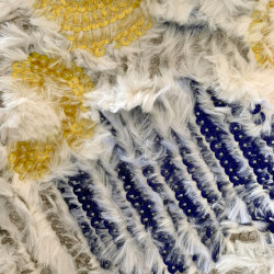 Celerina col. 102 yellow/blue/white | Drapery fabrics | Jakob Schlaepfer