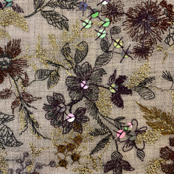 Creuse col. 102 light gray/multicolor   Drapery fabrics   Jakob Schlaepfer