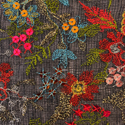Creuse col. 103 anthracite/multicolor | Drapery fabrics | Jakob Schlaepfer