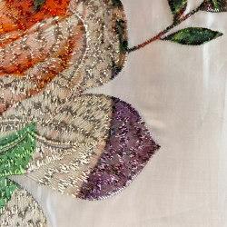 Elodie col. 101 silver/multicolor | Drapery fabrics | Jakob Schlaepfer