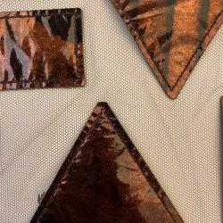 Qina col. 203 brown/brown | Drapery fabrics | Jakob Schlaepfer