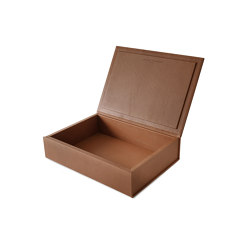 Bookbox cognac leather large | Storage boxes | August Sandgren A/S