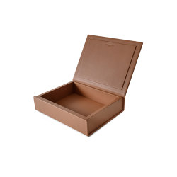 Bookbox cognac leather medium | Storage boxes | August Sandgren A/S