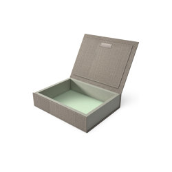 Bookbox wet sand and turquoise textile medium | Storage boxes | August Sandgren A/S