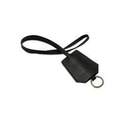 Keyring black leather | Key cabinets / hooks | August Sandgren A/S
