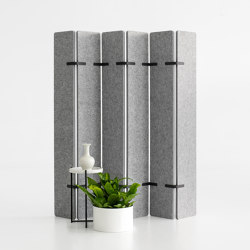 Free- Standing Space divider | EchoPanel® Paling | Paraventi | Woven Image