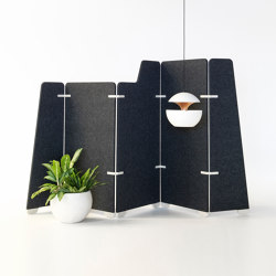 Free- Standing Space divider | EchoPanel® Wrap | Folding screens | Woven Image