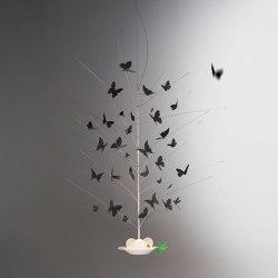 La Festa delle Farfalle black | Pendelleuchten | Ingo Maurer