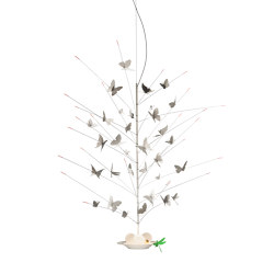La Festa delle Farfalle white | Suspended lights | Ingo Maurer
