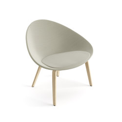 Adell | Armchair 4 wood legs | Armchairs | Arper