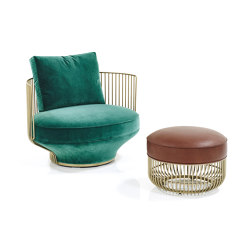 Paradise Bird Lounge Chair & Stool | Sillones | Wittmann