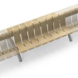Ascent Double Back straight Module | Benches | Green Furniture Concept