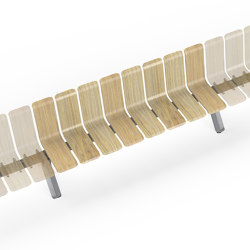 Ascent Single Back straight Module | Benches | Green Furniture Concept