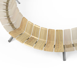 Ascent Single Back convex 60 moduel | Benches | Green Furniture Concept