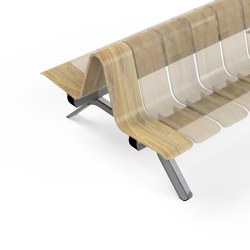 Ascent Double Back End piece Left | Benches | Green Furniture Concept