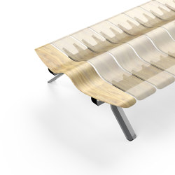 Ascent Double Bench End piece Left | Benches | Green Furniture Concept