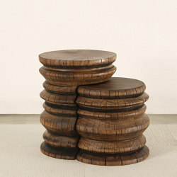 Andra Turned Wood Nesting Tables | Tavolini alti | Pfeifer Studio