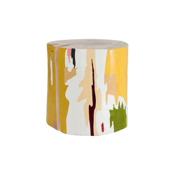 Tachi Hand Painted Log Table | Tavolini alti | Pfeifer Studio