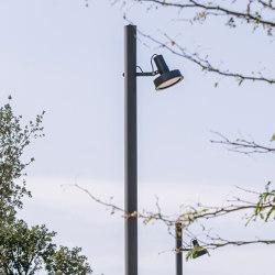 Arne direct lighting pole application | Street lights | URBIDERMIS SANTA & COLE