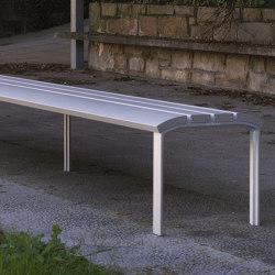NeoRomántico Aluminio Banquette | Benches | urbidermis SANTA & COLE