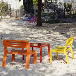 Cléa Full-Steel Armchair & Bench & Table | Kids chairs | Univers et Cité