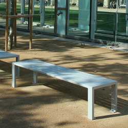 Cléa Full-Steel Backless Bench | Benches | UNIVERS & CITÉ