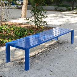 Cléa Full-Steel Backless Bench   Benches   UNIVERS & CITÉ