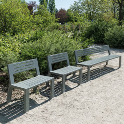 Cléa Full-Steel Bench | Benches | Univers et Cité