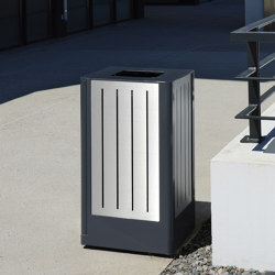 Fusion Bin with low lid | Waste baskets | Univers et Cité