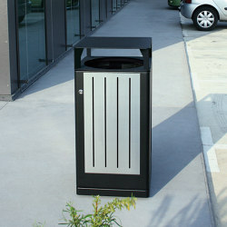Fusion Bin with high lid | Waste baskets | Univers et Cité