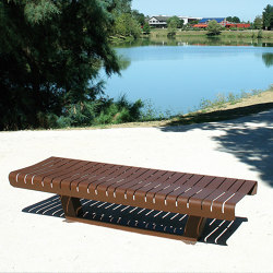 Lia Backless Bench | Benches | UNIVERS & CITÉ