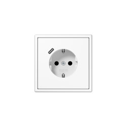 LS 990 | USB-C SCHUKO-Socket LS 990 white with Quick Charge | Schuko sockets | JUNG