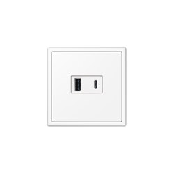 LS 990 | USB Charger USB-A/C LS 990 white | USB power sockets | JUNG