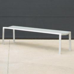 Harpo Aluminium Banquette | Benches | urbidermis SANTA & COLE
