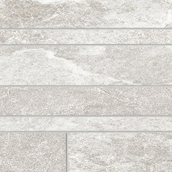 Brixen Stone Decori Listelli Sfalsati Ivory | Mosaicos de cerámica | EMILGROUP