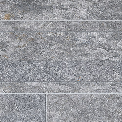 Brixen Stone Decori Listelli Sfalsati Sand | Ceramic mosaics | EMILGROUP