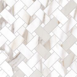 Tele di Marmo Reloaded Decori Intrecci CALACATTA GOLD CANOVA | Ceramic tiles | EMILGROUP