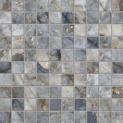 Tele di Marmo Revolution Decori Blu Ande Mosaico 3x3 | Ceramic mosaics | EMILGROUP