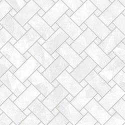 Tele di Marmo Revolution Decori Thassos Intrecci | Ceramic mosaics | EMILGROUP