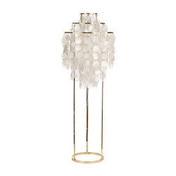 Fun Mother of Pearl 1STM | Floor lamp Brass | Free-standing lights | Verpan