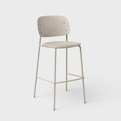 Hale PET Felt Bar Stool Upholstered | Bar stools | De Vorm