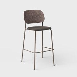 Hale PET Felt Bar Stool Upholstered | Bar stools | De Vorm