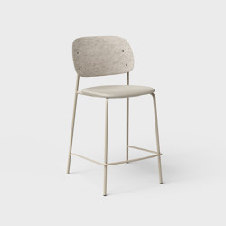 Hale PET Felt Counter Stool Upholstered | Counter stools | De Vorm
