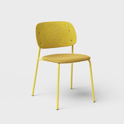 Hale PET Felt Stack Chair Upholstered | Chairs | De Vorm