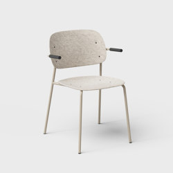 Hale PET Felt Stack Chair With Armrests | Chairs | De Vorm