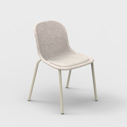 LJ 2 PET Felt Stack Chair Upholstered | Chairs | De Vorm