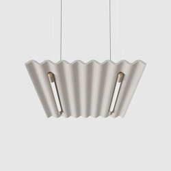 Mute Flow Floating Light PET Felt Acoustic Panel | Suspended lights | De Vorm
