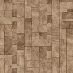 FORÊT SQUARE MIX NATURAL | Holz Platten | Oscarono