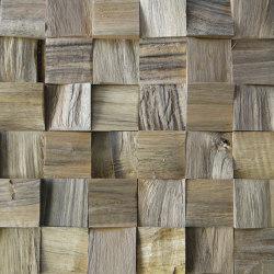 Mosaik wood Block Nut Split | Mosaicos de madera | StoneslikeStones